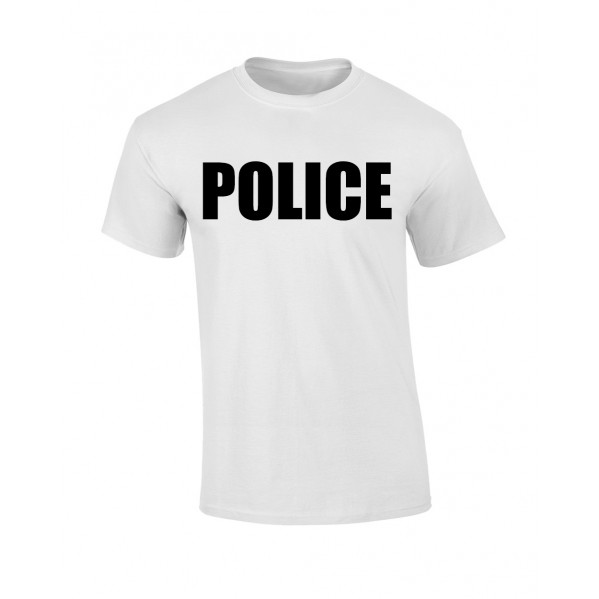 WHITE POLICE T-SHIRT